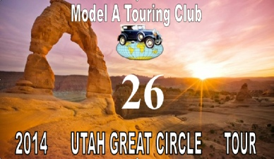 Tour License Plate - Model A Touring Club Utah Great Circle Tour.