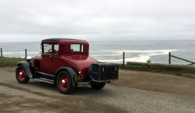 Our 29 Model A Coup poses in front of the lookout.