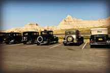 Line of Model A s overlook Cedar Pass peaks. Photo by Snuttjer.