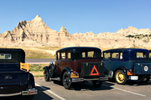 A look a Cedar Pass and 3 Model A's neatly parked.