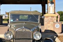 A Model A marks the entrance to the Model A Touring Club picnic location in Sioux Falls.