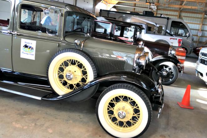 Cars parked in Stromer's Garage